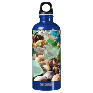 REcycle Personalize SeaGlass Earth Aluminum Water Bottle