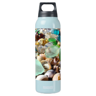 REcycle Personalize SeaGlass Earth Thermos Water Bottle