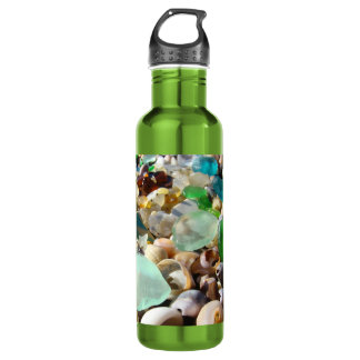REcycle Personalize SeaGlass Earth Water Bottle