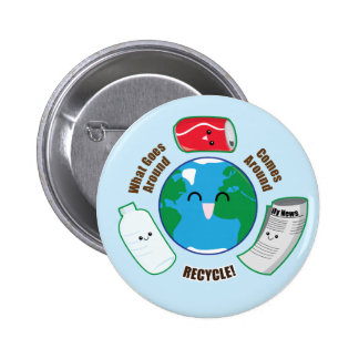 Recycle Pinback Buttons