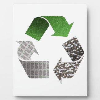 Recycle Display Plaque