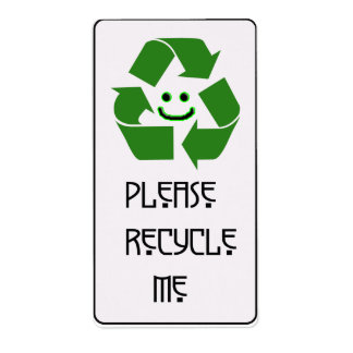 recycle plate 1 label
