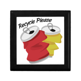 Recycle Please Trinket Boxes