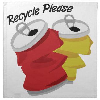 Recycle Please Napkin