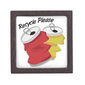 Recycle Please Premium Trinket Box
