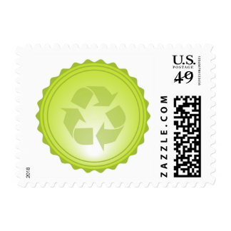 Recycle Postage Stamp