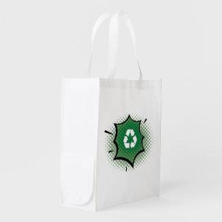 Recycle Pow Organic Planet Reusable Canvas Bags