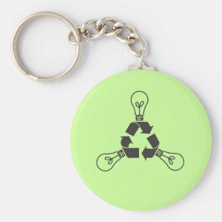 Recycle Power Keychain