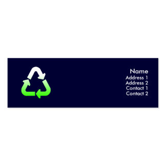 Recycle Profile Card Double-Sided Mini Business Cards (Pack Of 20)