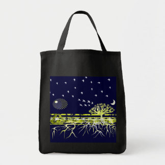 Recycle Pure White Roots Tote Bag