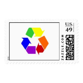 recycle rainbow stamp