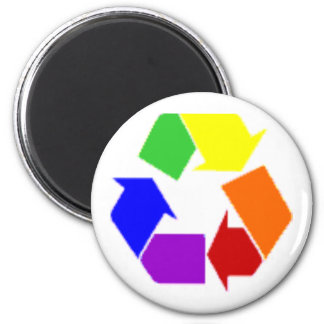 recycle rainbow symbol magnet