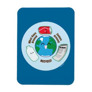 Recycle Rectangular Photo Magnet