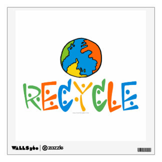 Recycle, Recycling Wall Decal