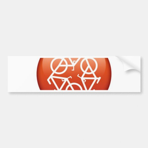 recycle-red bumper sticker