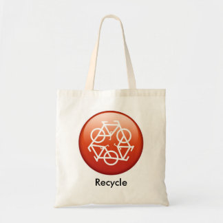 recycle-red tote bag