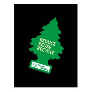 Recycle Reduce Green dark Postcard