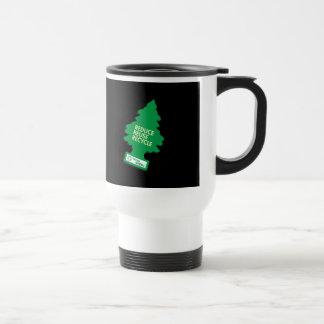 Recycle Reduce Green dark Travel Mug