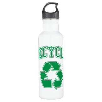 Recycle symbol water bottles recycle symbol sport bottles for Ways to reuse water bottles