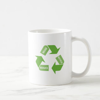 Recycle Reuse Reduce Coffee Mugs