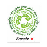 Recycle, Reuse, Reduce quote with green arrows Sticker