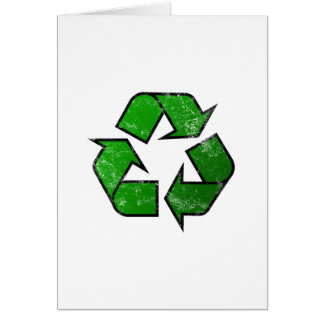 Recycle & Reuse Symbol - Save The Planet Card