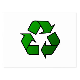 Recycle & Reuse Symbol - Save The Planet Postcard