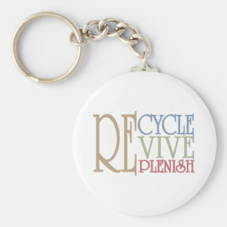 Recycle Revive Replenish Keychain