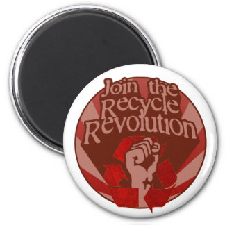 Recycle Revolution 2 Inch Round Magnet