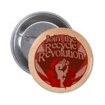 Recycle Revolution Pinback Button