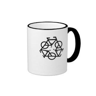 recycle ringer ceramic mug by Petr Kratochvil