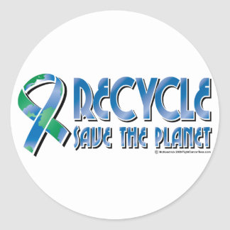 RECYCLE Save The Planet Classic Round Sticker