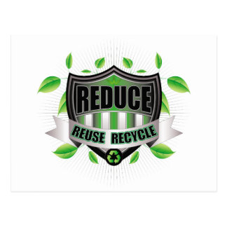 Recycle Shield Postcard