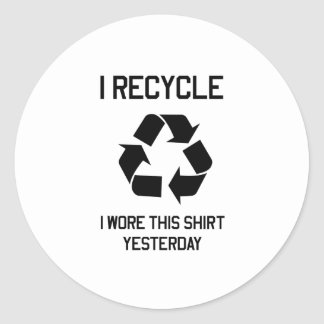 Recycle Shirt Classic Round Sticker