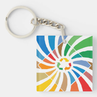 Recycle Sign Art Keychain