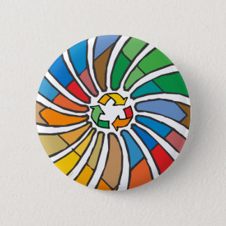 Recycle Sign Art Pinback Button