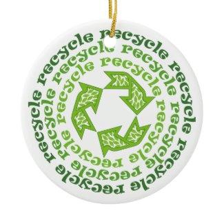 Recycle sign custom ornament ornament