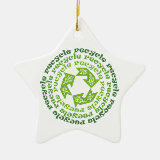 Recycle sign  custom ornament