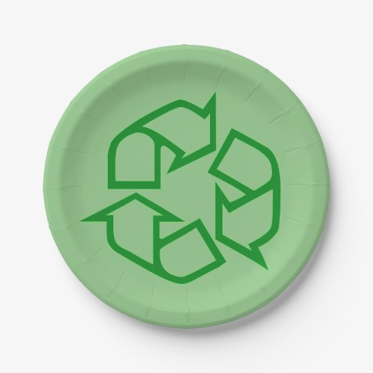 Recycle Sign Paper Plates  sc 1 st  Zazzle & Recycle Sign Paper Plates | Zazzle.com