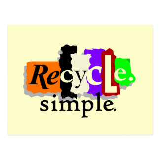 Recycle.simple. T-shirts and Gifts Postcard