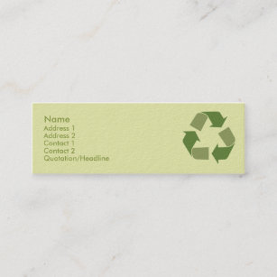 Recycling business cards templates zazzle recycle skinny mini business card colourmoves
