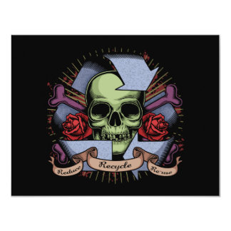 Recycle Skull w/Roses Card