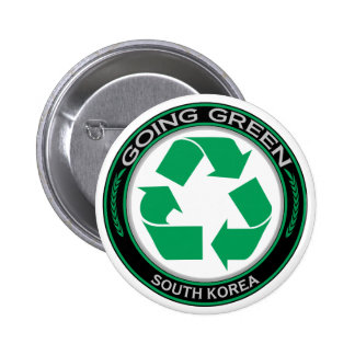 Recycle South Korea Pinback Button