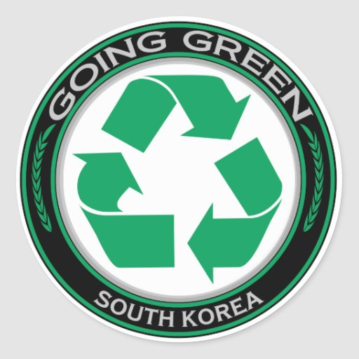 Recycle South Korea Round Sticker