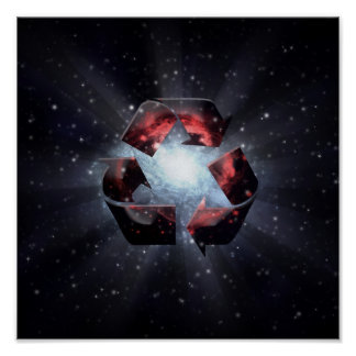 Recycle space poster