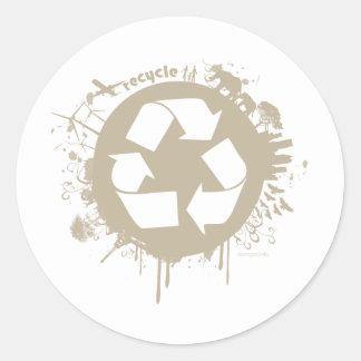 recycle splat classic round sticker