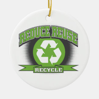 Recycle Sport Style Ceramic Ornament
