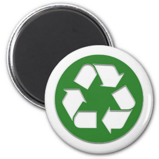 recycle sticker 2 inch round magnet