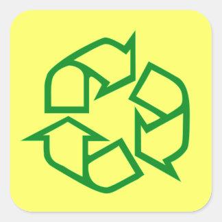 Recycle Sticker Green Arrows