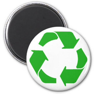 Recycle Symbol 2 Inch Round Magnet